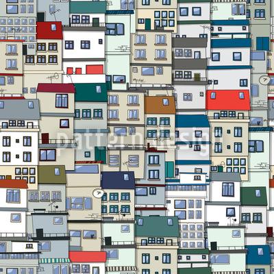 Kleine Seite Der Stadt Vektor Ornament