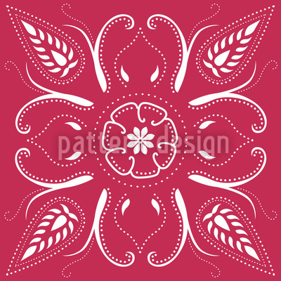 Bandana Fuchsia Repeat Pattern