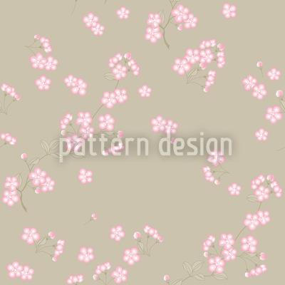 Kirschblüten Auf Sand Nahtloses Muster