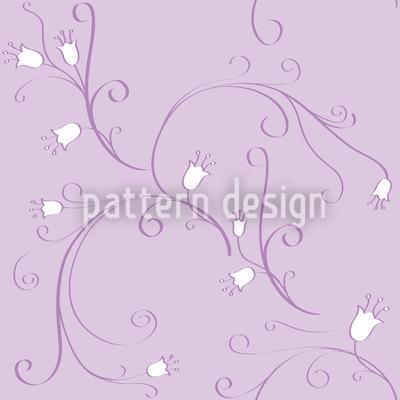 Glockenblumen Im Wandel Nahtloses Vektor Muster