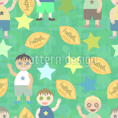 Football And Friends Seamless Vector Pattern
