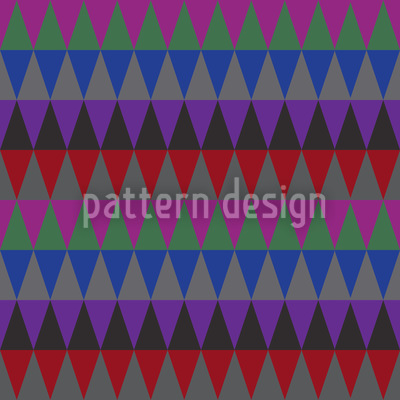 Autumn Mood Of The Triangles Pattern Design