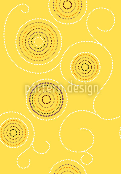 Aborigine Sunny Twirls Vector Ornament