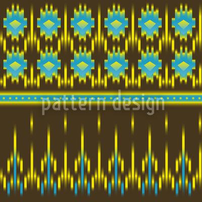 Azteken Ikat Vektor Design