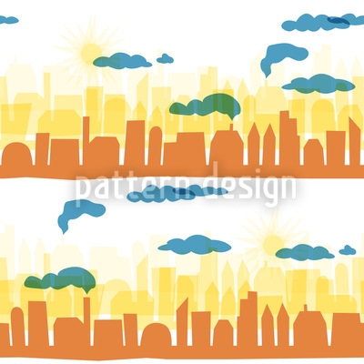 Skyline Early Morning Pattern Design
