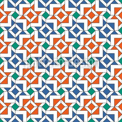 Alhambra Geometrie Rapportiertes Design