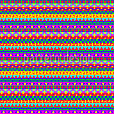 Wild Colorful Geometry Pattern Design