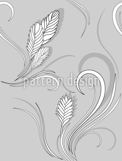 Bromelia Monochrome Seamless Pattern
