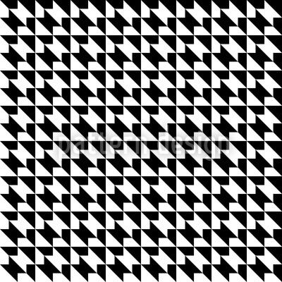 Hahnentritt Geometrie Nahtloses Vektor Muster