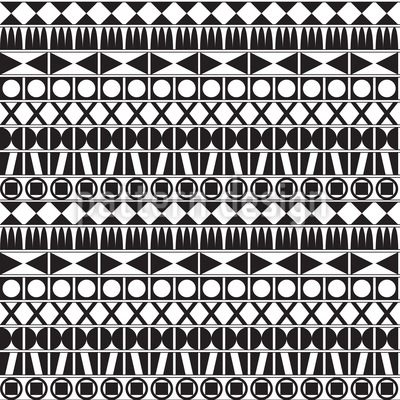 Tribal Monochrom Rapportiertes Design