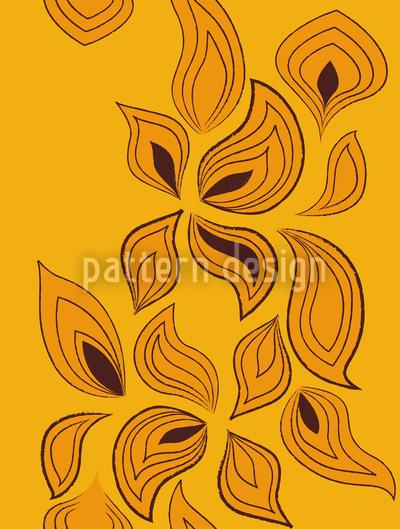 Blätter Im Wind Vektor Ornament