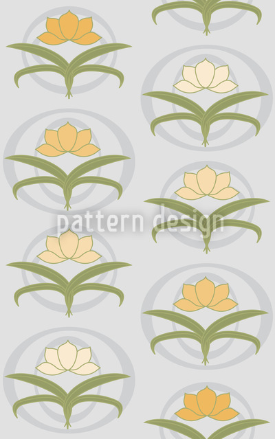 Tender Lilies On Grey Seamless Pattern