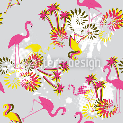 Miami Pink Flamingo Vektor Design