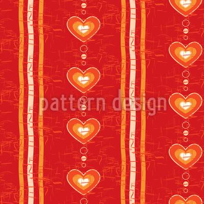 Warm Ums Herz Vektor Muster