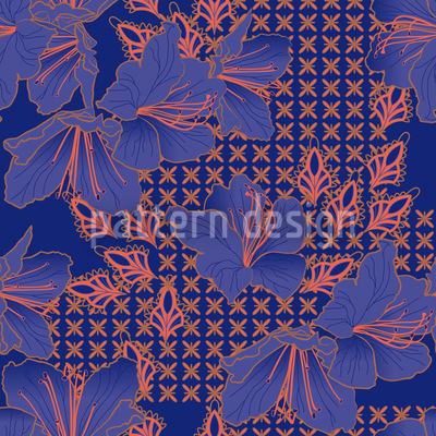 Orientalische Blüten Imperial Vektor Design