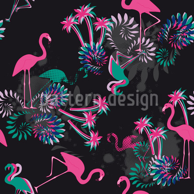 Miami Nights Flamingo Repeat