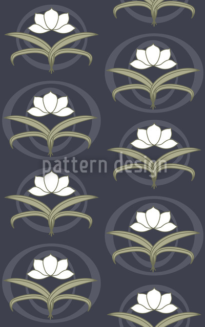 Tender Lilies At Night Design Pattern