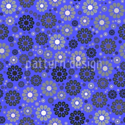 Blüten Im Nachtblau Vektor Design