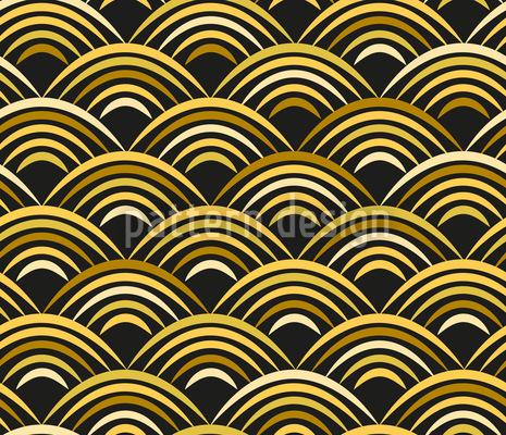 Golden Wave Vector Ornament