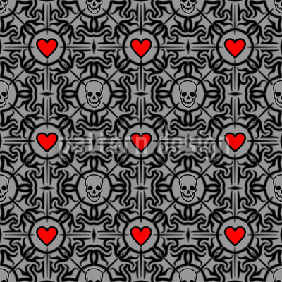 Liebestod Seamless Vector Pattern