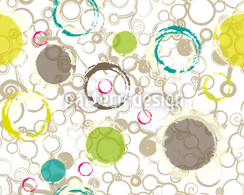 Spring Draw Circles Repeating Pattern