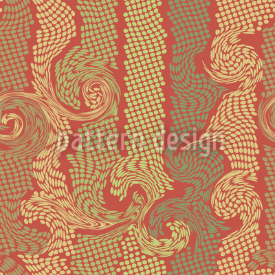Swirling Dots Vector Ornament