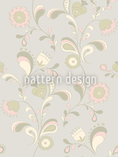 Paisleyblumen Bei Tag Designmuster