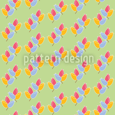 Fresh Tulips Vector Pattern