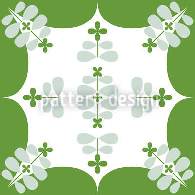 Super Clover Seamless Vector Pattern