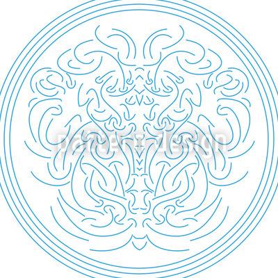 Neptun Embleme Nahtloses Muster