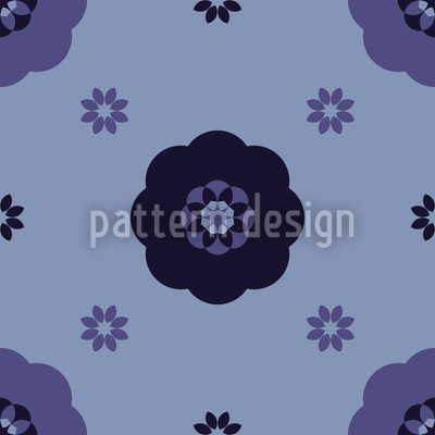 Carmen Midnight Flowers Seamless Vector Pattern