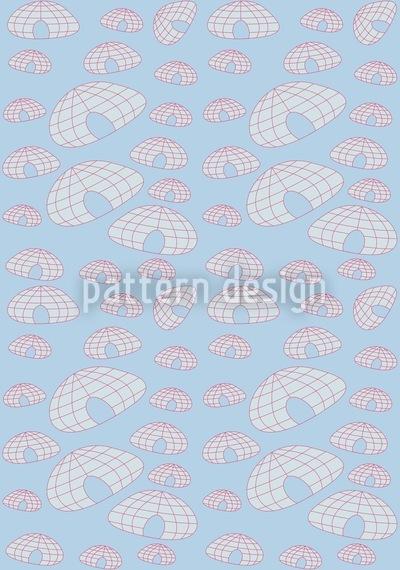 Iglu Polarblues Muster Design