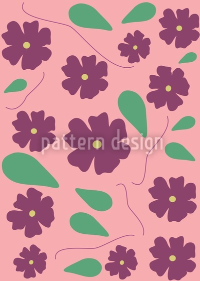 Viola On Pink Repeat Pattern
