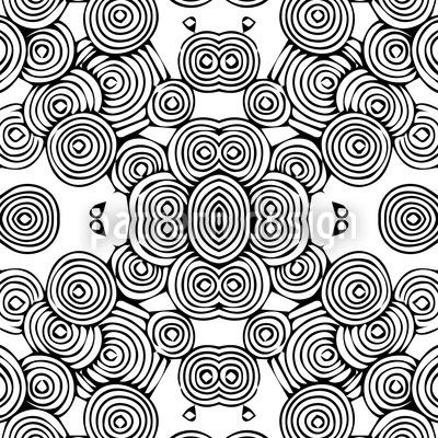 Kreislauf Der Blumen Nahtloses Vektor Muster