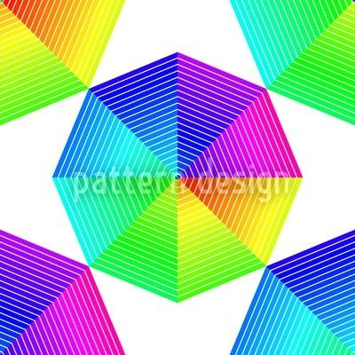 Farbspektren Des Oktagons Rapportmuster