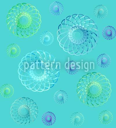 Many Swirls In Spring Pattern Design