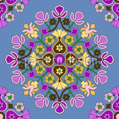 Orientalische Blüte Musterdesign