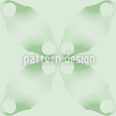 Blumen Verlaufen Sich Im Grün Rapportiertes Design