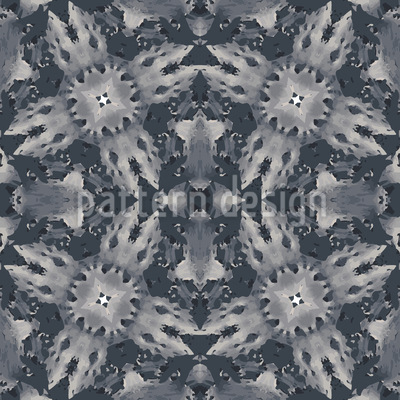 Flora Landing On Grey Vector Pattern