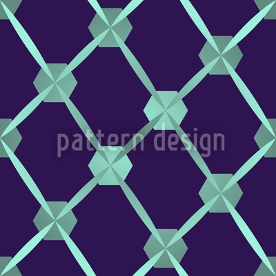 Hexagon Network Repeat Pattern