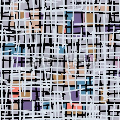 Pastel Pop Art Patchwork Design Pattern