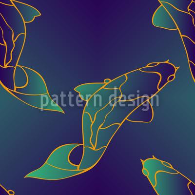 Mystic Koi Seamless Vector Pattern