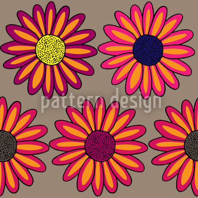 Marguerites Multicolor Pattern Design