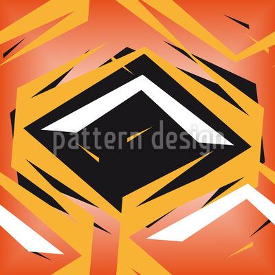 Rhombus Im Gefecht Nahtloses Vektor Muster