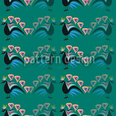 Prahlende Pfauen Musterdesign
