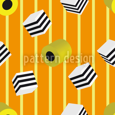 Liquorice Mix Vector Pattern
