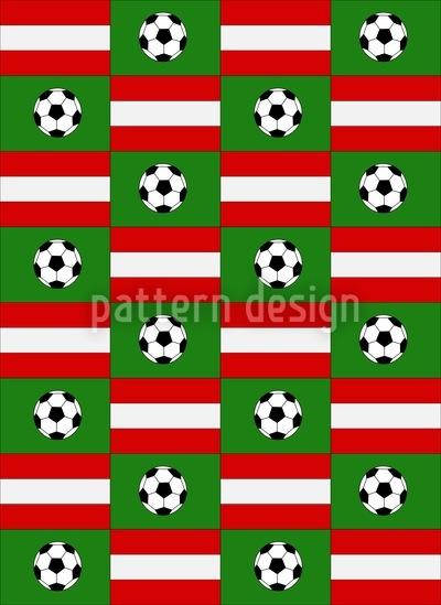 Fussball Made In Austria Nahtloses Muster