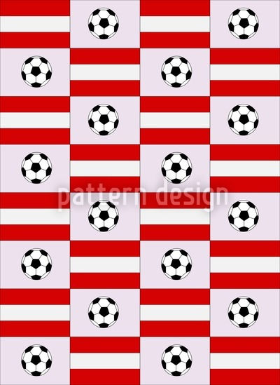 Women Football Made In Austria Seamless Vector Pattern