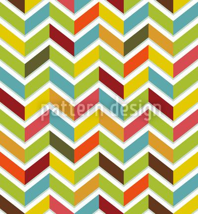 Fischgrat Color Nahtloses Vektor Muster