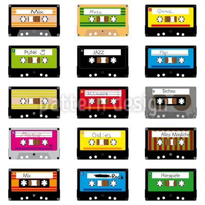 Mixtapes Seamless Pattern